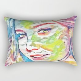 Abbie Cornish (Creative Illustration Art) Rectangular Pillow