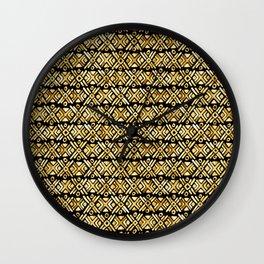 Sonoran Stripe - Midnight Gold Wall Clock