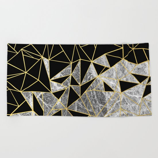 Marble Ab Beach Towel