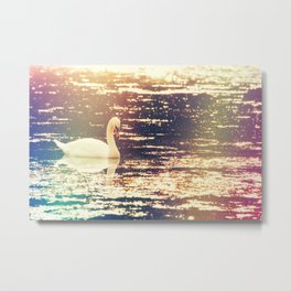 Dreamy Swan Metal Print