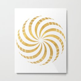 GOLD TORUS circular sacred geometry Metal Print