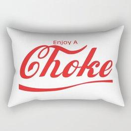 enjoy a choke Rectangular Pillow