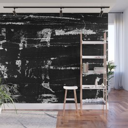 Distressed Grunge 102 in B&W Wall Mural