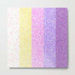 Abstract Geometric tiles with Unicorn Colors Metal Print