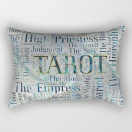 Tarot Major Arcana Word Art  on Pearl Rectangular Pillow