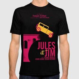 Jules et Jim, François Truffaut, minimal movie Poster, Jeanne Moreau, french film, nouvelle vague T-shirt