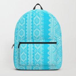 Ukrainian embroidery heavenly azure Backpack