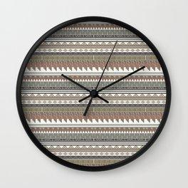 Tribal clay Wall Clock