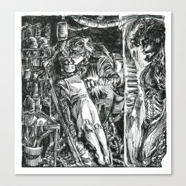 Inktober 2018: Precious Canvas Print