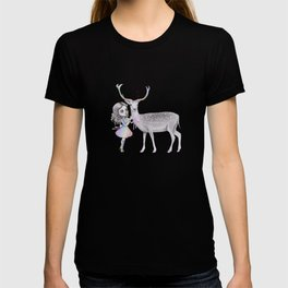 Nature spirit deer and the little child T-shirt