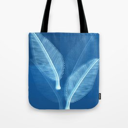 Blueprint Leaves Tote Bag