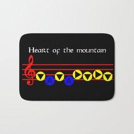 Heart Of The Mountain - Bolero Of Fire (The Legend Of Zelda: Ocarina Of Time) Bath Mat