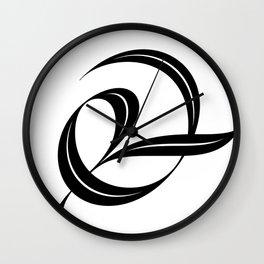 Swash ampersand Wall Clock