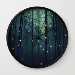 Enchanted Trees Wall Clock