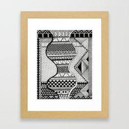Wavy Geometric Patterns Framed Art Print