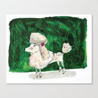 poodle Canvas Prints featuring Poodle by Elizabeth Graeber