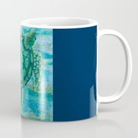 sea turtle Mugs featuring turtle by Brittany Rae