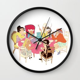 ladies illustration1 Wall Clock