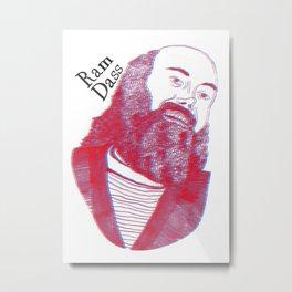 Ram Dass Portrait Metal Print
