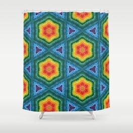 Rainbow Tile Shower Curtain