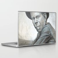 tom waits Laptop & iPad Skins featuring Tom Waits by Lars-Erik Robinson