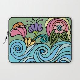 Flower Power & Spiral Waves Laptop Sleeve