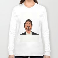 robert downey jr Long Sleeve T-shirts featuring Robert Downey Jr. by Kaylabeaisaflea