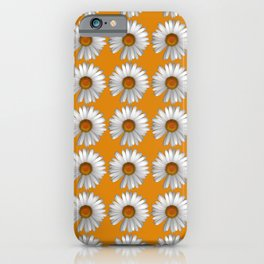 Photographic Daisy Repeat Pattern Gold iPhone Case