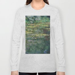 Water Lilies 1904 by Claude Monet Long Sleeve T-shirt