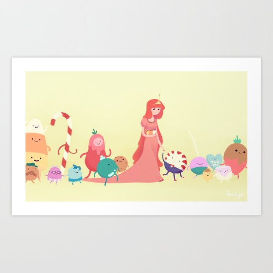 The Candy Kingdom - Adventure Time Art Print by Rennie Kingsley ...