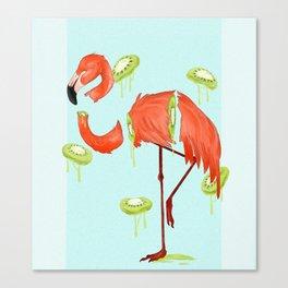 Kiwi Flamingo Canvas Print