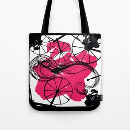 Briar Rose with Spinning Wheels Tote Bag