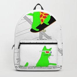 """Psychedelic Skateboading Pizza Cat #2"", by Brock Springstead Backpack"