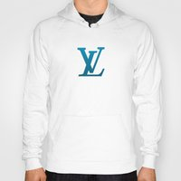 wallet Hoodies featuring LV Blue Pattern by Veylow