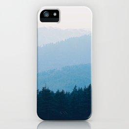 Parallax Mountain Hills Blue Hues Minimal Modern Landscape Photo iPhone Case