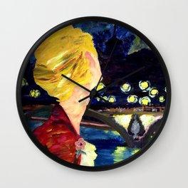Enjolras in Paris les mis Wall Clock