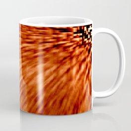 Burnt Orange Pixel Wind Coffee Mug