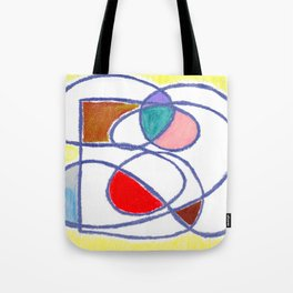 Doodle: Abstract tangled lines Tote Bag