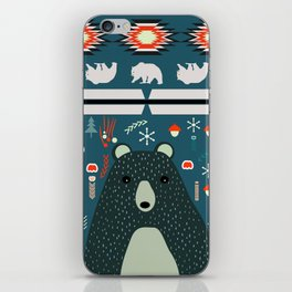 Bear Christmas decoration iPhone Skin