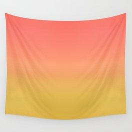 Coral through Gold Ombre Wall Tapestry