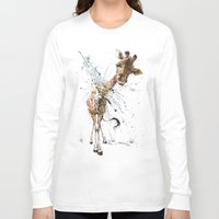 giraffe Long Sleeve T-shirts featuring Giraffe by TAOJB