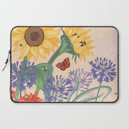 Sunflower Bees Laptop Sleeve