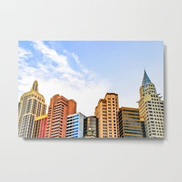 buildings of the New York New York hotel at Las Vegas, USA Metal Print