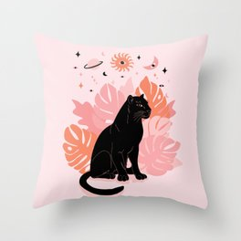 black panther spirit animal Throw Pillow