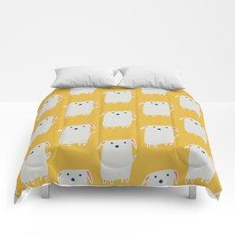 Cute sweet Dog Yellow Comforters
