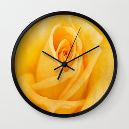 Yellow Rose Wall Clock