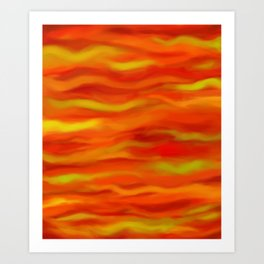 Pumpkin Spice and Butternut Squash Abstract Art Print