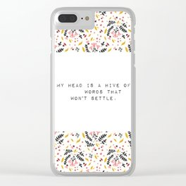 My head is a hive of words - V. Woolf Collection Clear iPhone Case