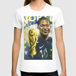 KYLIAN MBAPPÉ PSG football player, world cup champion, best young french football player star portra T-shirt