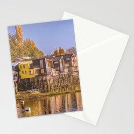 Lakefront Palafito Houses, Chiloe Island, Chile Stationery Cards